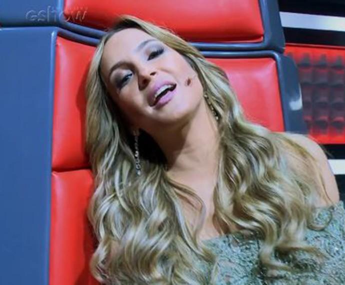 Claudia Leitte fica com os nervos à flor da pele na cadeira de técnica do The Voice (Foto: Gshow)