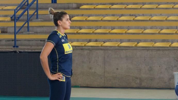 Mari Paraíba, jogadora da seleção brasileira de vôlei (Foto: Leonardo Freire/GloboEsporte.com)