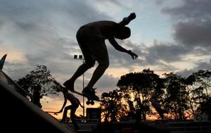 Etapa final Brasileiro de Street Skate Pro em Manaus (Foto: Isabella Pina)