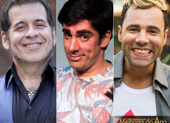 Leandro Hassum, Marcelo Adnet e Rodrigo Sant'anna  (Foto: Pedro Curi, João Miguel Júnior e João Cotta )