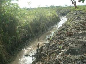 Valetas foram feitas durante preparação de solo para pecuária (Foto: Divulgação/PMA)