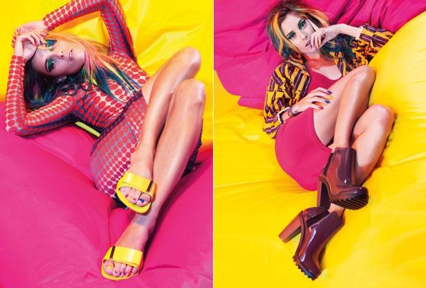 Modelo norte-americana posa pela primeira vez para uma marca brasileira (Foto: Divulgação)