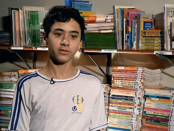 O estudante Guilherme Resende é um dos inventores do sistema inovador desenvolvido em Uberlândia (MG) (Foto: Globo)