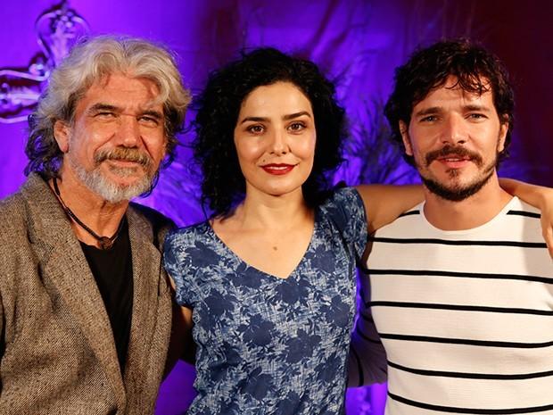 Jackson Antunes, Letícia Sabatella e Daniel de Oliveira foram triângulo amoroso (Foto: Ellen Soares / Gshow)