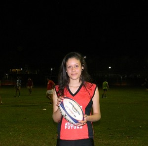 Isabela de Souza Borges Rugby Uberlândia (Foto: Divulgação/ Sesi-MG)