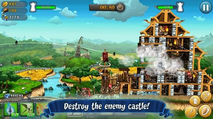 Destaque da semana, CastleStorm é um jogo para PC e Xbox360 que foi portado para o iOS (Foto: Divulgação)