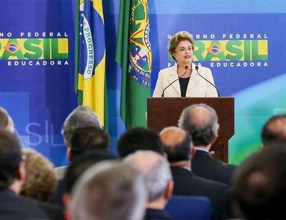 Discurso Dilma Rousseff na posse do ex-presidente Lula para Ministro da Casa Civil  (Foto: Roberto Stuckert Filho/PR)