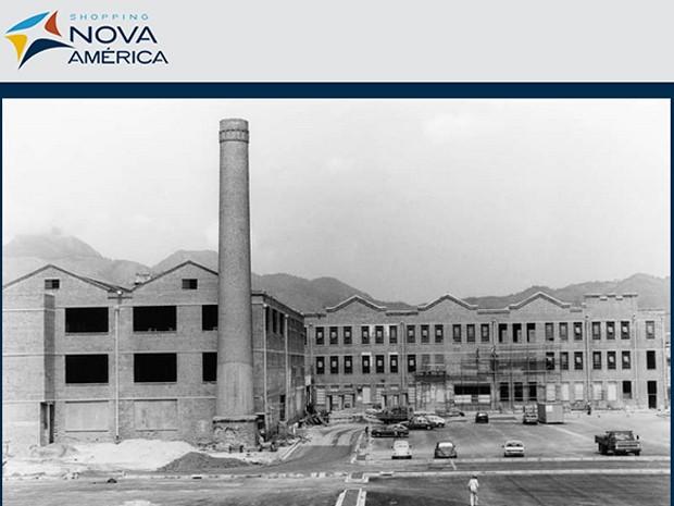 A antiga fábrica de tecidos Nova América no final da década de 1920 (Foto: Reprodução da internet)