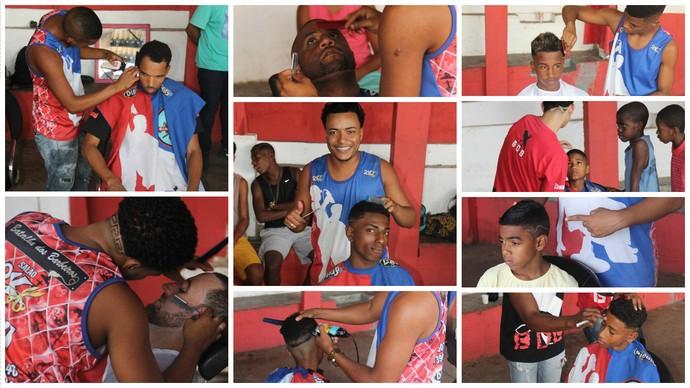 Barbeiros fazem campanha de corte de cabelo para ajudar a arrecadas recursos para bodyboarders Matheus e Sócrates (Foto: Arquivo pessoal)