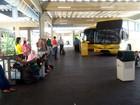 Ônibus não saem da rodoviária por causa de interdições nas BRs do RN