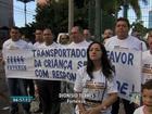 Motoristas de vans escolares do CE protestam contra uso de cadeirinhas