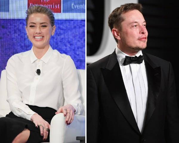 A atriz Amber Heard e o empresário Elon Musk (Foto: Getty Images)