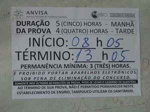 Horário de realização da prova não foi cumprido (Foto: Robson Mariano)