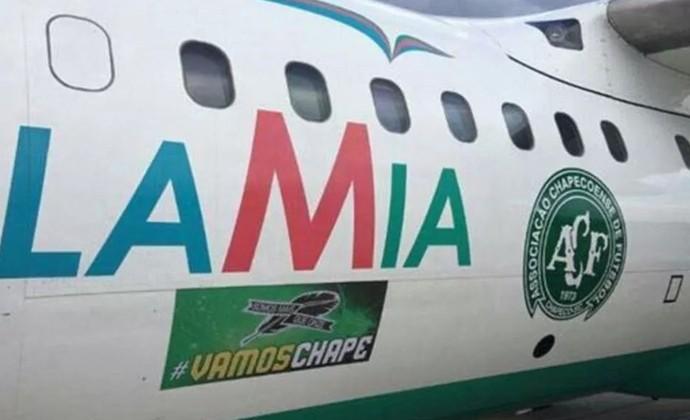 Avião Chapecoense Lamia (Foto: Reprodução/Twitter)