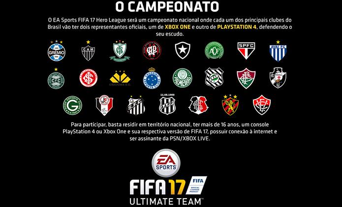 Fifa 17: como se inscrever no campeonato brasileiro do game (Foto: Reprodução/Murilo Molina)
