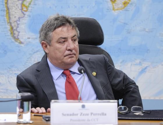 O senador Zeze Perrella (PMDB-MG) (Foto: Pedro França/Agência Senado)
