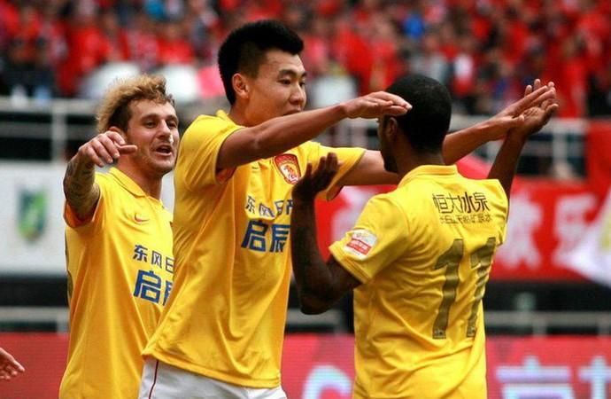 muriqui guangzhou evergrande gol (Foto: Reprodução / Facebook)