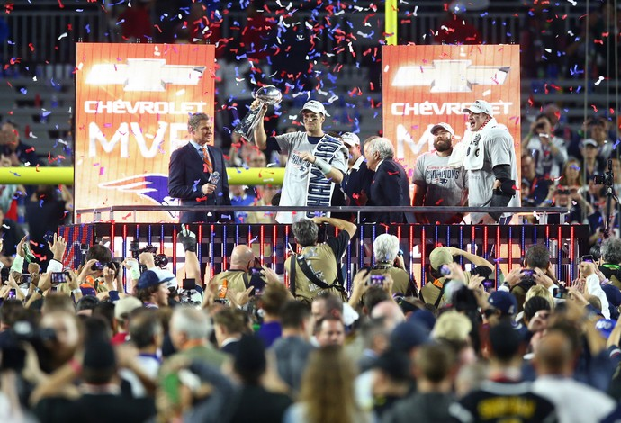 Tom Brady, troféu, Superbowl, NFL (Foto: Getty Images)