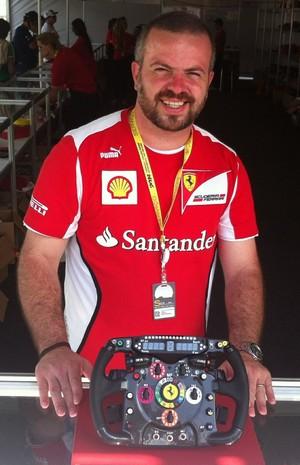 Ferrari miniatura (Foto: Guilherme Costa)