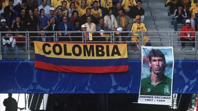 Homenagem torcida Colômbia Escobar Copa 1998 (Foto: Reprodução)