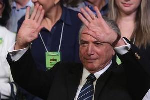 Michel Temer foi reeleito presidente do PMDB pela sexta vez. E pregou a união dos brasileiros (Foto: André Dusek  / Estadão Conteúdo)
