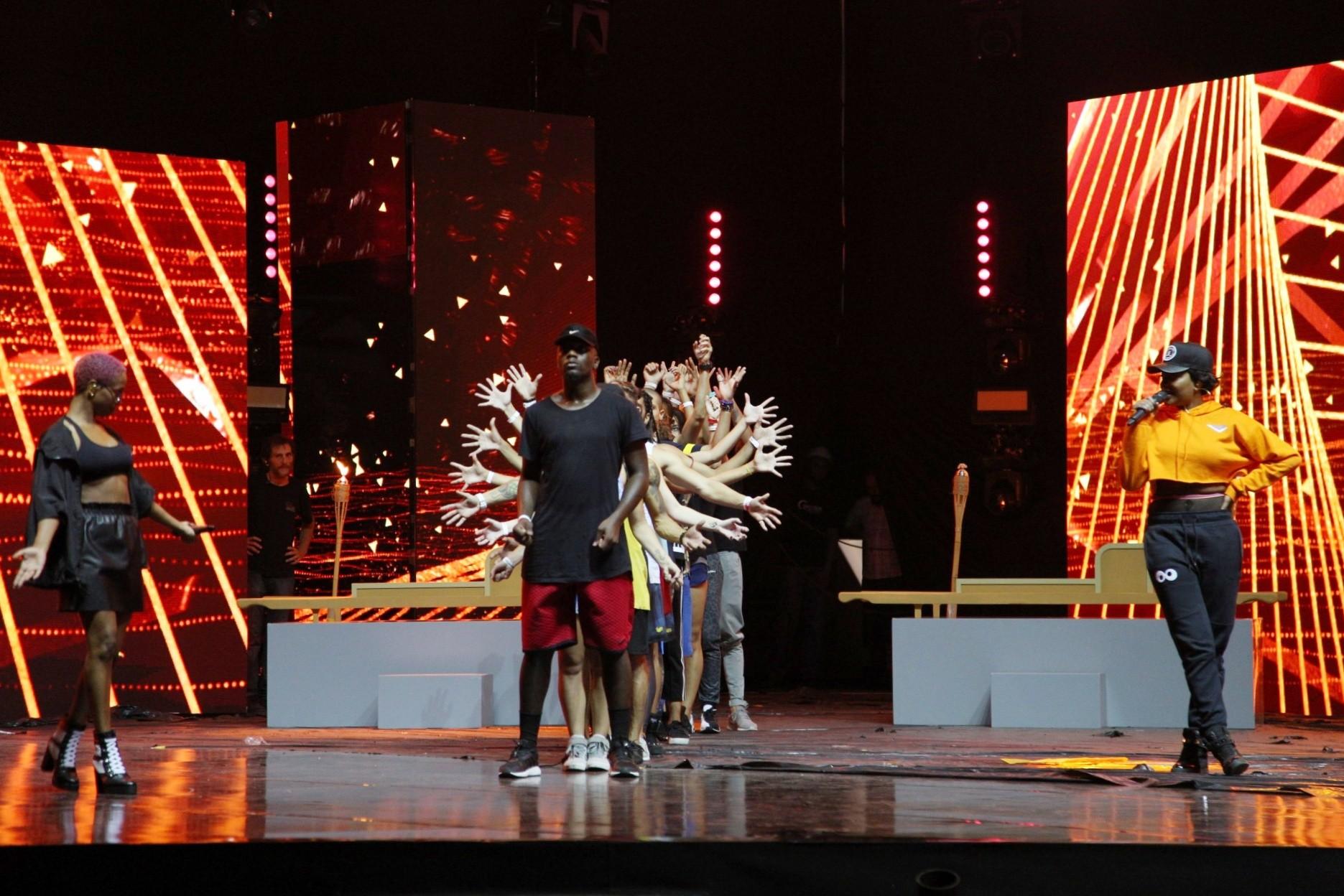 Karol Conk e Ludmilla abrem o primeiro dia de ensaios do Prmio Multishow 2017 (Foto: Fabiano Leone/Multishow)