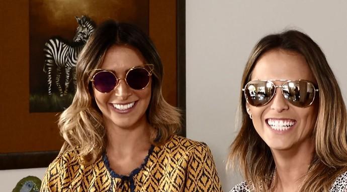 4cc75a1ac89d9 Aline Lima e a blogueira Laís Rasera conversam sobre as novas tendências  dos óculos escuros (