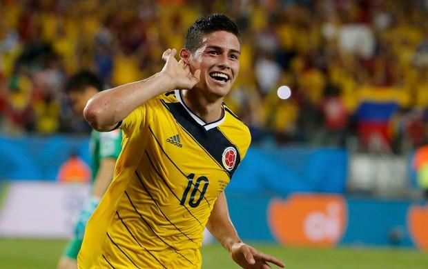 James Rodriguez Colômbia x Japão (Foto: Reuters)