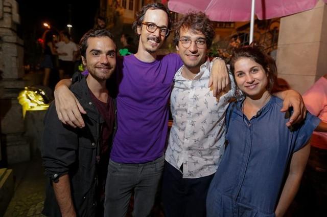 Bernardo Marinho, Lucas Paraízo, Humberto Carrão e Chandelly Braz  (Foto: Rodrigo Gorozito)