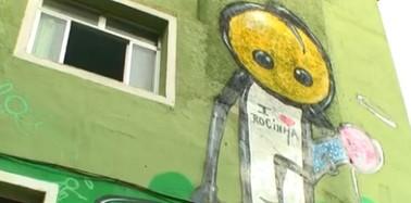 A arte entre as vielas das comunidades (Reprodução/TV Globo)