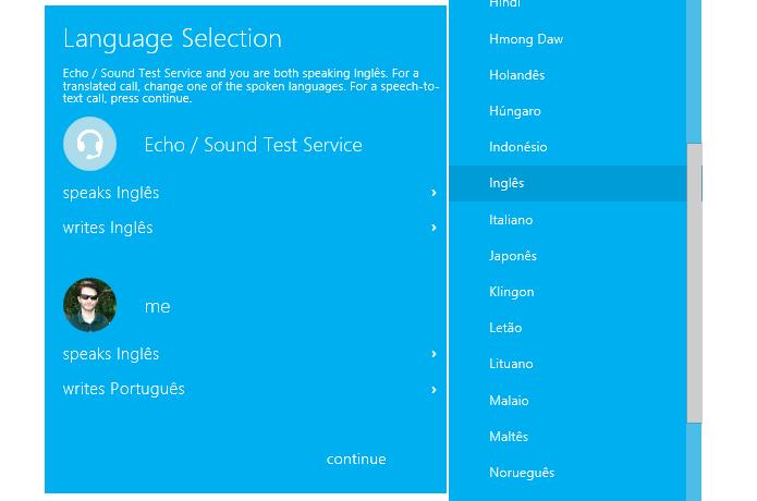 Selecione o mesmo idioma para fala e escrita (Foto: Reprodução/Helito Bijora)