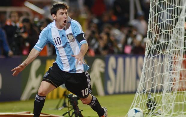 messi argentina x uruguai (Foto: EFE)