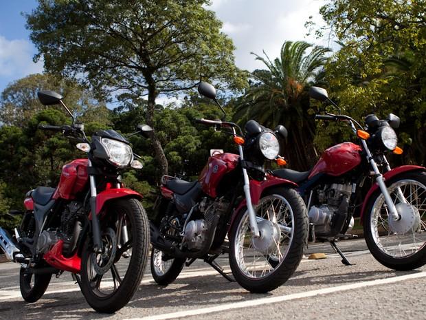 Honda; CG; 125; Fan; Dafra; Riva; 150; Yamaha; YBR; 125; Factor; Comparativo; titan (Foto: Caio Kenji / G1)