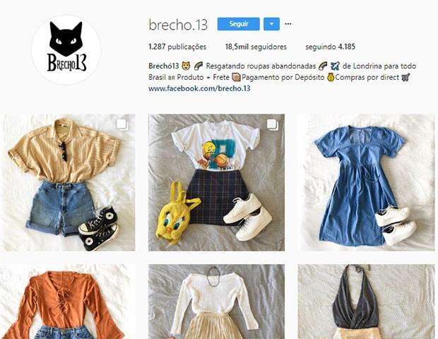 Brecho 13 (Foto: Instagram)