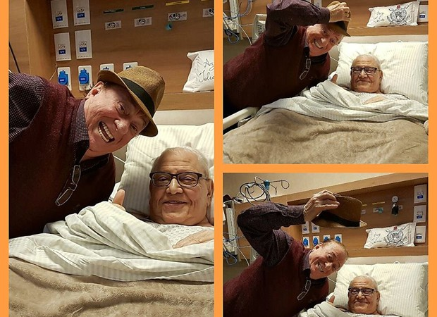 Raul Gil visita Ary Toledo no hospital (Foto: Reprodução/Instagram)