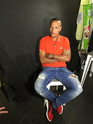 Luis Fabiano conversou com a equipe do Esporte Espetacular (Foto: Sergio Gandophi)
