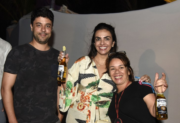 Tiago Eltz, Marion Ceschini e Ana Claudia Navamuel