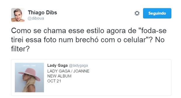 Memes do novo álbum de Lady Gaga (Foto: Reprodução/Twitter)