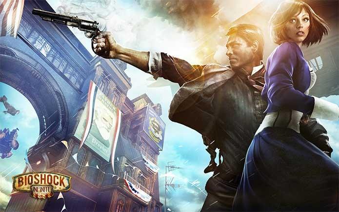 Booker e Elizabeth em BioShock Infinite (Foto: Divulgação/2K Games)