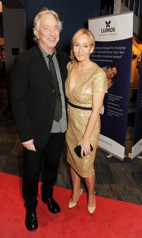 Alan Hickman e J.K Rowling (Foto: David M. Benett/Getty Images for Lumos)