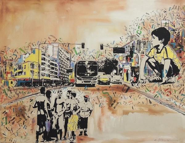 Obra de Edson Landim que está em exposição na mostra em cartaz na Galeria de Arte Solar (Foto: Reprodução)
