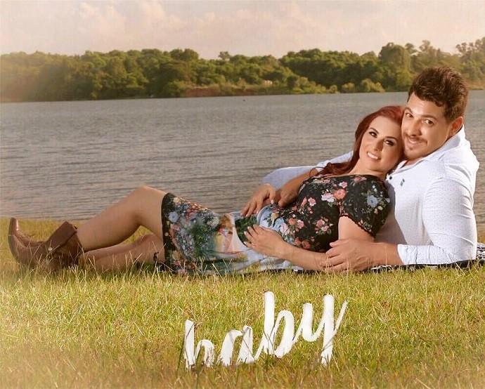 Carol e Cézar estão esperando pelo primeiro filho (Foto: Divulgação)