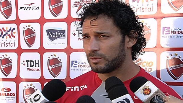 Frontini - atacante Vila Nova (Foto: Reprodução/TV Anhanguera)