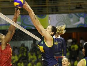 vôlei feminino thaissa Brasil (Foto: Alexandre Arruda / CBV)