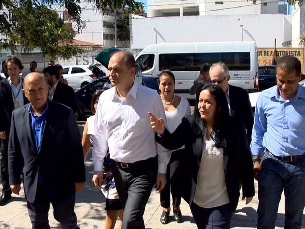 Ministro da Saúde no Espírito Santo visitou unidades de saúde (Foto: Reprodução/ TV Gazeta)