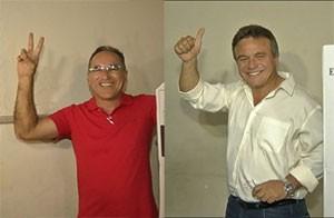 Edmilson e Zenaldo durante a votação deste domingo. (Foto: G1 PA)