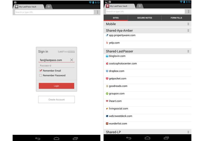 LastPass é um app para memorizar senhas de navegadores no Android (Foto: Divulgação)