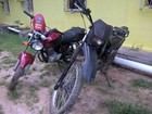 PM encontra motos roubadas em vila de Caracaraí, no Sul de Roraima