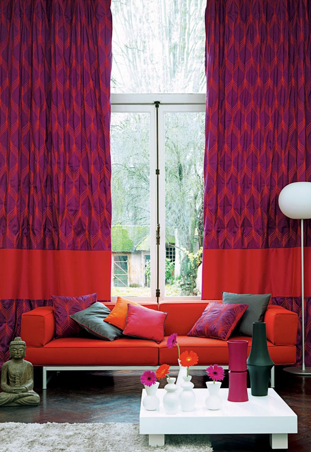 Quem foi que falou que cortina precisa ser lisa e b sica for Cortinas estampadas modernas