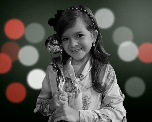 Mel Maia, fofa, ganhou como atriz mirim (Foto: Domingão do Faustão/ TV Globo)